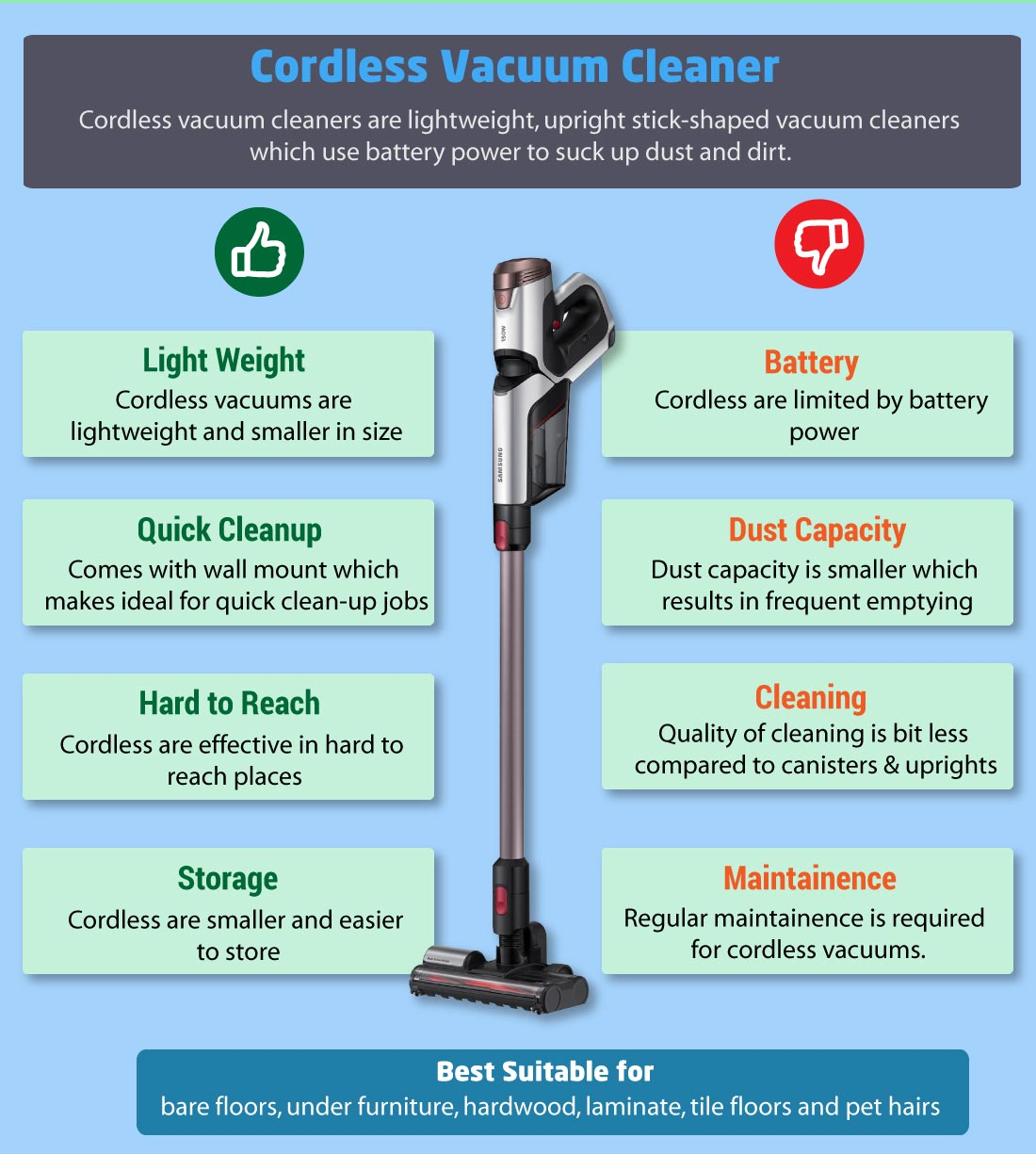 cordless vacuum cleaners pros and cons