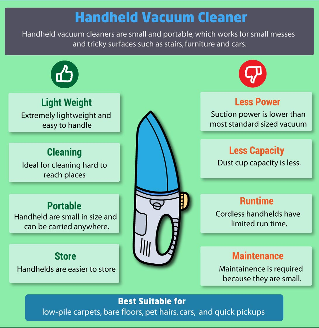 handheld vacuum cleaners pros and cons