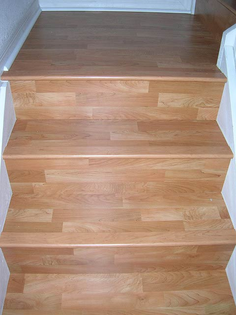 laminate or wood flooring on stairs